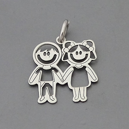 Boy and girl pendant