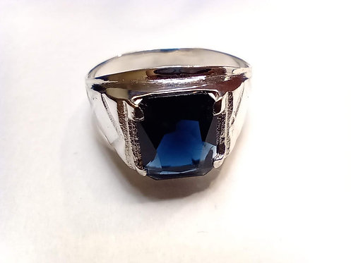 Blue stone ring #13