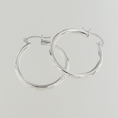 Hoop earrings | Diamond-cut