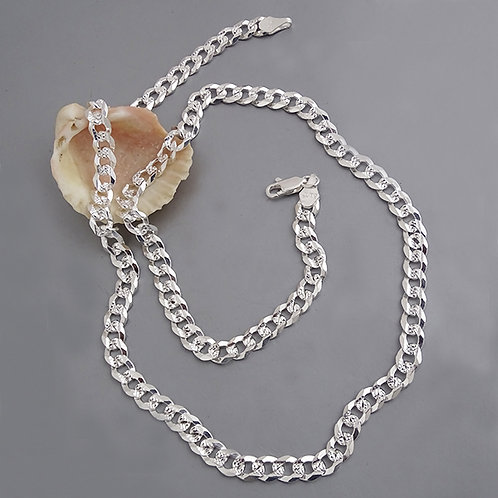 Cuban chain necklace | 6mm | 55cm