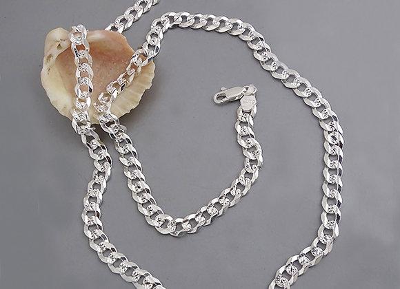 Cuban chain necklace   6mm   55cm