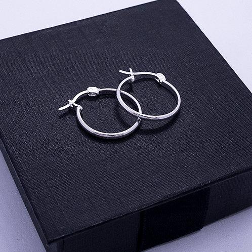 Wire hoop earrings