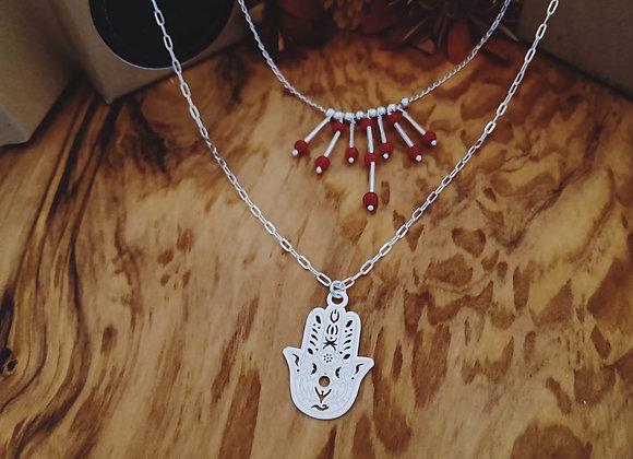 Cleopatra/Hamsa Hand necklace