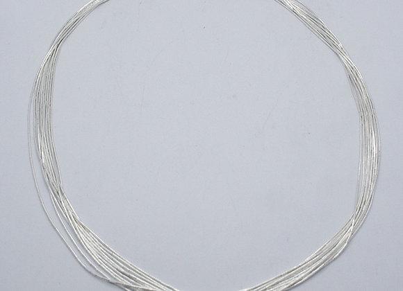 Collar plata líquida | 10 hilos
