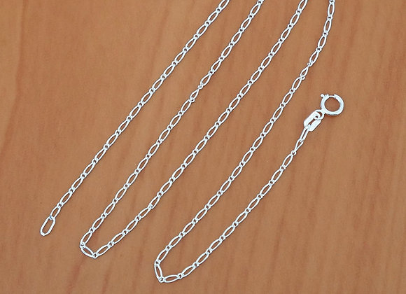 Figaro chain necklace 1*1 | 1.5mm | 50cm