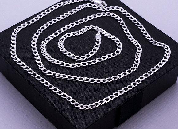 Cuban chain necklace | 3.5mm | 55cm