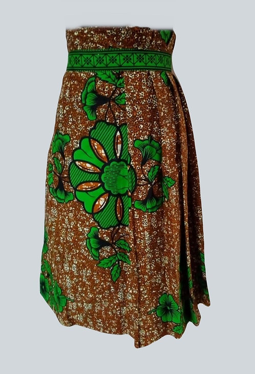 Ankara African Print Stylish Straight Pleated Skirt