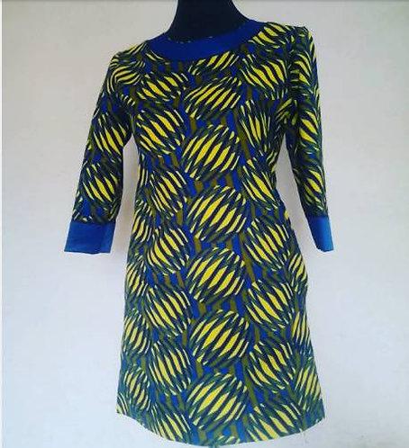 African Print Mix Dress