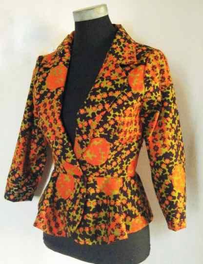 Radiant African Print Blazer