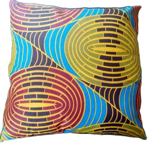 African Print Big Colourful Cushion Cover