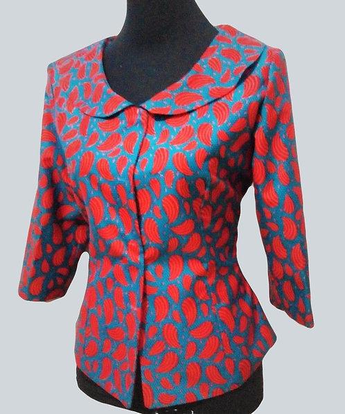 Beautiful African Print Wide Collar Blazer