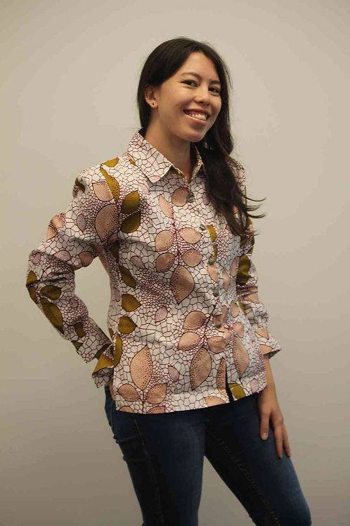 Ankara African Print Ladies Shirt