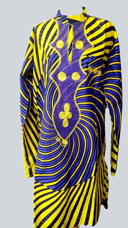 Ankara Men Clothing, African Print Men Embroidered Shirt / Complete Suit