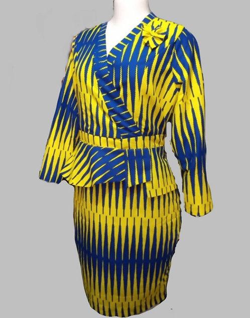 TDARE African print Ankara yellow dress