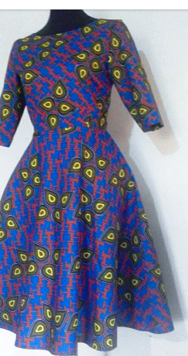 #D1 Flare Dress with Elbow Lenth Sleeves
