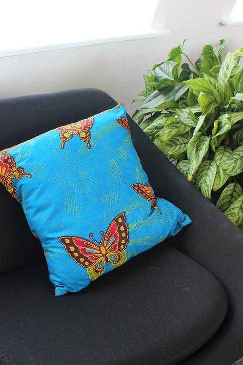 Blue African Print Cushion Cover