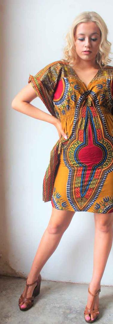 #D5 Light Summer Dress with Deep V Neck