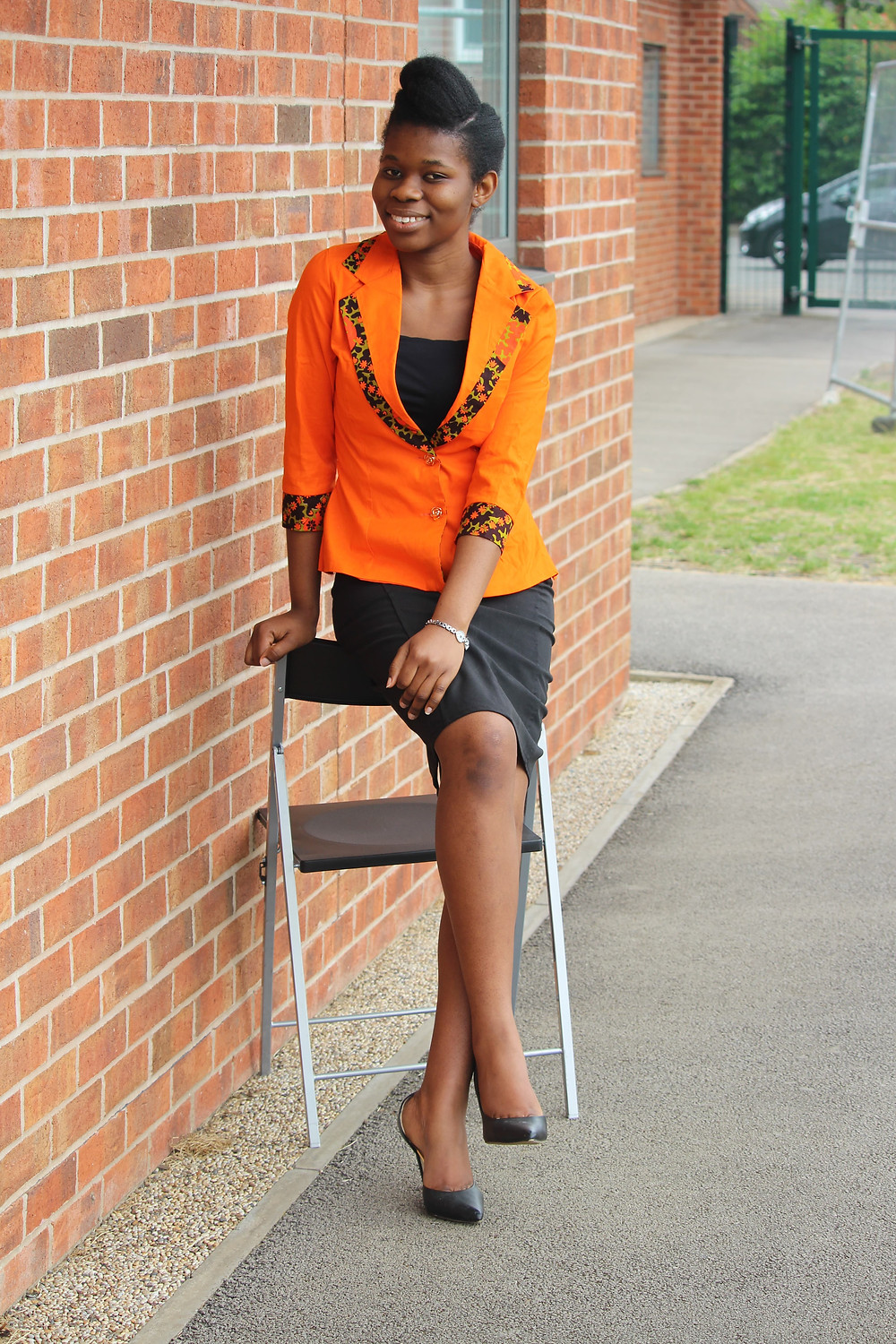 Lovely blazer with African print mix..... step out in style