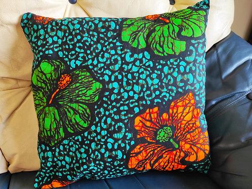 African Print Ankara Floral Cushion Cover - Home Decor