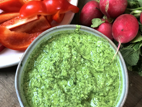 5 Minute Healthy Snack- Spicy Cashew Dip