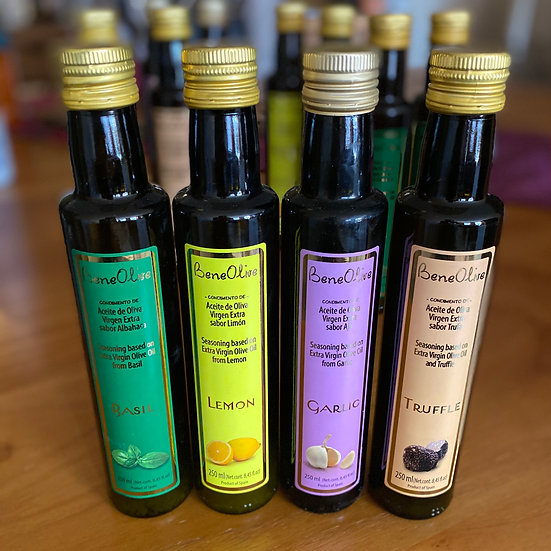 4 dressings op basis van olijfolie - 250ml/flesje