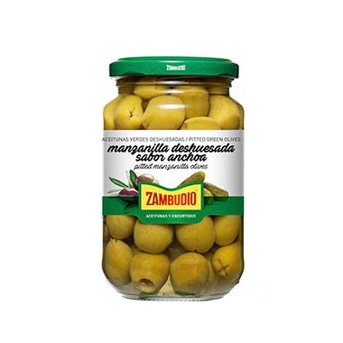 Manzanilla olijven groen zonder pit-370 ml