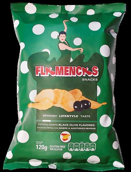 Flamancas chips zwarte olijf 40gr.