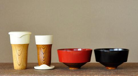 misaraku tumbler&wan / 2009 Client / Japan Crafts Oshima Co.,Ltd. Designer / Y.Inagaki  2012 WAO select