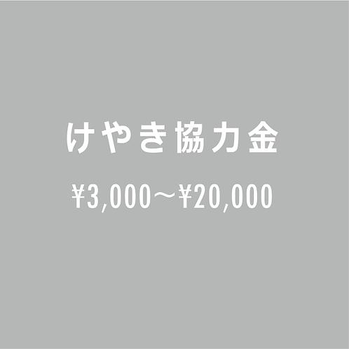 けやき協力金     ¥3,000~¥20,000
