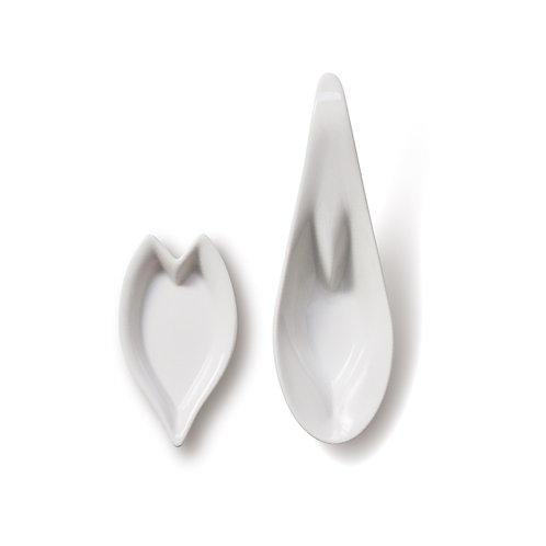 hiracle さくらレンゲ皿・花びら皿 各1枚セット 白