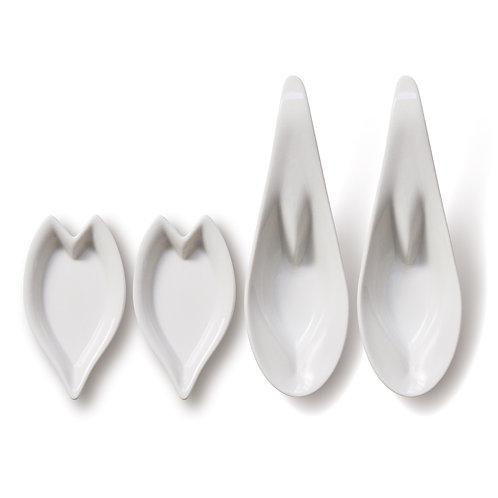 hiracle さくらレンゲ皿・花びら皿 各2枚セット 白
