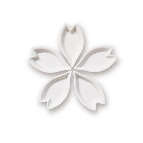 hiracle さくら花びら皿 5枚セット 白