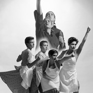 Framed ex exhibition print, image size 40 x 50 cm, stained black ash frame, size 53.5 x 63.5 cm £175.00 Collection only. The Cholmondeleys and The Featherstonehaughs  'Flag 1'  1988  Dancers  ''Rossana Sen, Teresa Barker, Lea Anderson, Gaynor Coward