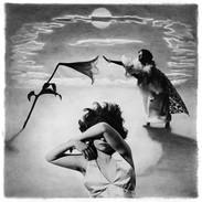 The Cholmondeleys 'Walky Talky' 1992.  Framed ex exhibition print, image size 40 x 40 cm, stained black ash frame, size 53.5 x 53.5 cm £75.00 Collection only. Dancers  Emma Gladstone, Teresa Barker