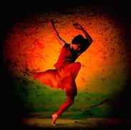 Unframed signed Giclee print, image size 30 x 30 £75.00 + p & p.  Richard Alston Dance Company 'Red Run' 1998