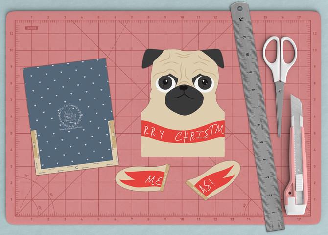 DIY Christmas Card Printables - Pets