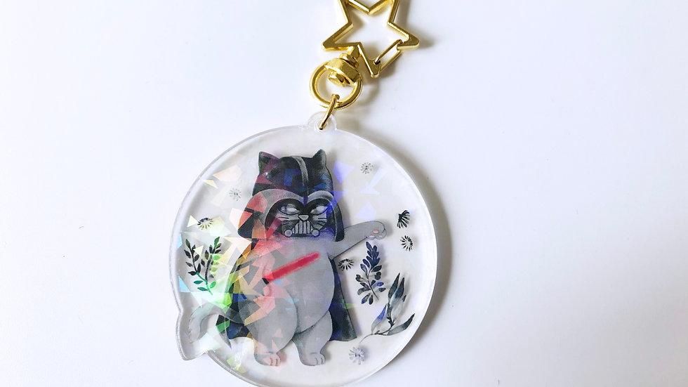 Cat Vader Acrylic Keychain