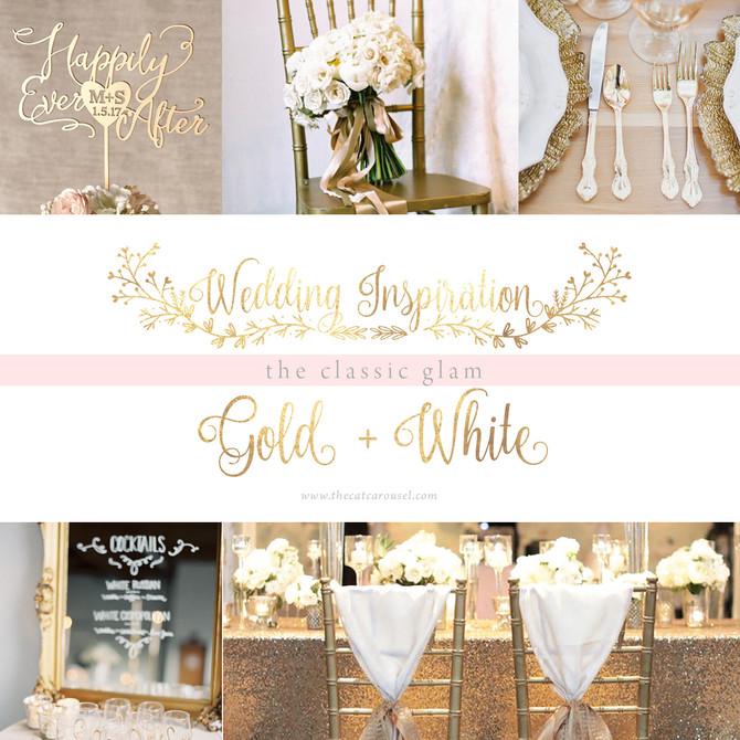 Wedding Inspiration: Gold + White