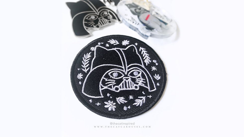 Cat Vader Iron-On Patch