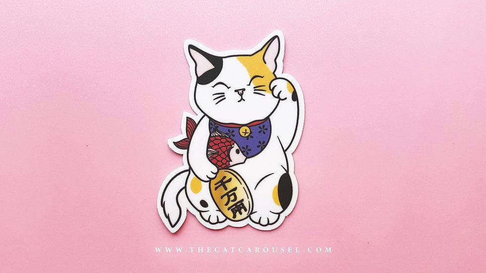 Fortune Cat Sticker