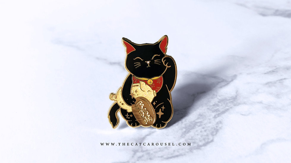 Year of Pig Fortune Cat Pin