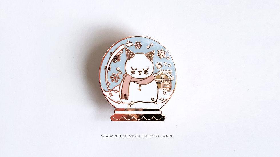 Snow Globe Cat Pin