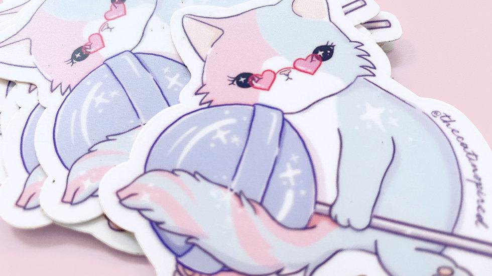 Lollipop Cat Sticker