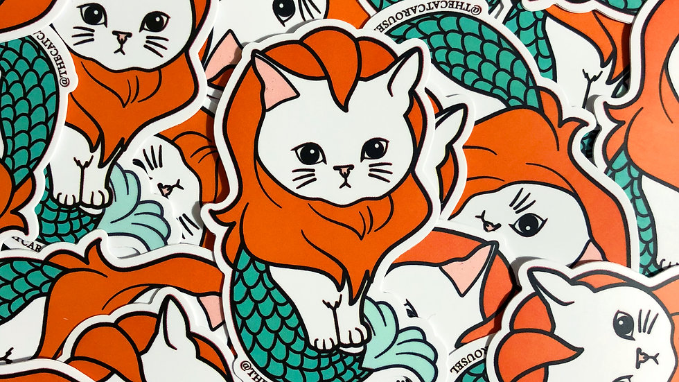 Merlion Cat Sticker