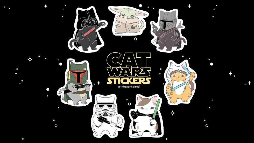 Cat Wars Stickers