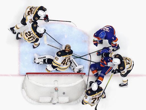 Islanders Edge: Barzal, Isles roll past Bruins in game four to tie series