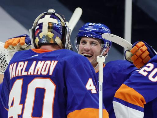 Islanders Edge: Varlamov Stays Undefeated, tops Devils 4-1