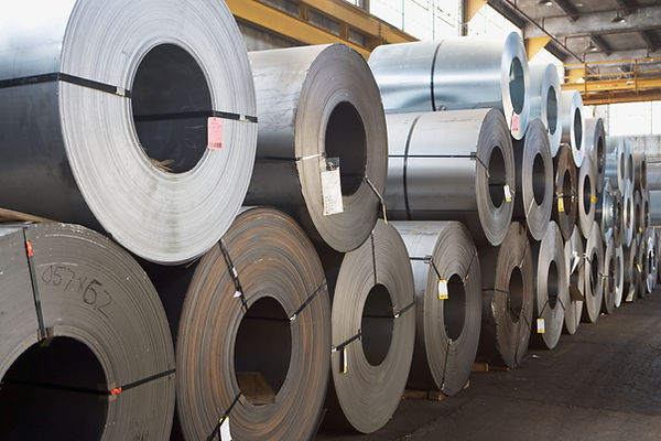 Metal raw stock.  Metal fabrication coil.