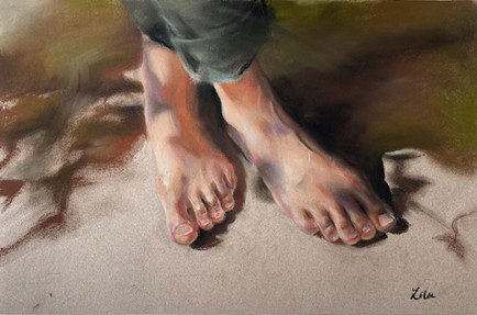 Shadow on feet
