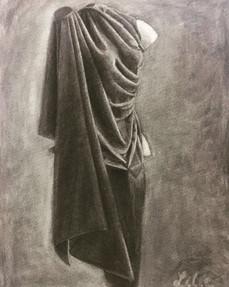Torso wrapped in cloth